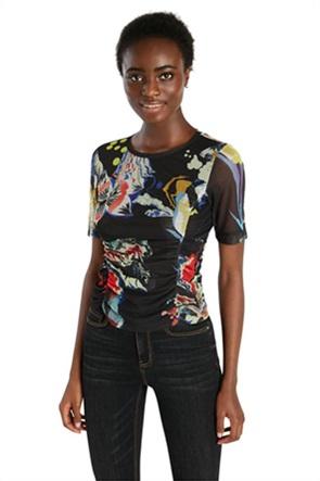 Desigual γυναικείο T-shirt με all-over print ''Bruselas''