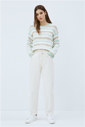 Pepe Jeans γυναικείο τζην παντελόνι ψηλόμεσο με ζώνη στη μέση Balloon Fit ''Rachel''