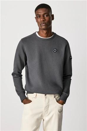 "Pepe Jeans ανδρική μπλούζα φούτερ με logo patch ""Aaron"""