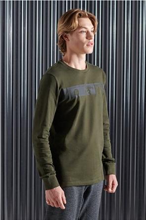 "Superdry ανδρική μπλούζα μακρυμάνικη με logo print ""Core Logo Transit"""