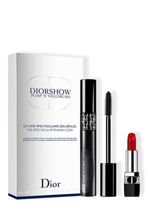 Diorshow Pump 'N' Volume HD Mascara and Lipstick Set - The Spectacular Runway Look