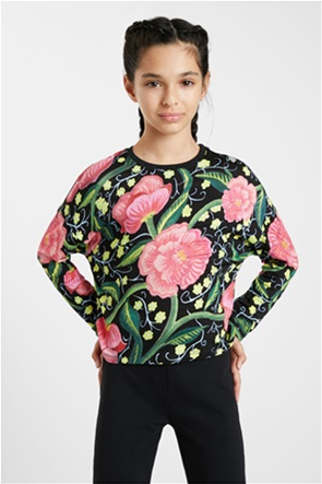 Desigual παιδική μπλούζα με all-over floral print ''Lucia''