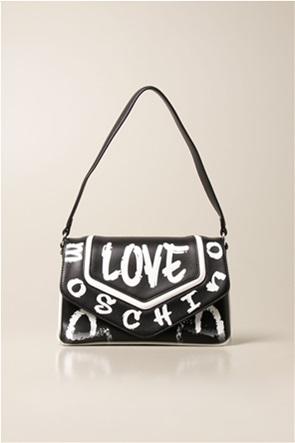 Love Moschino γυναικεία τσάντα ώμου με logo print