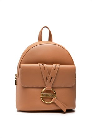 Love Moschino γυναικείο backpack με μεταλλικό logo και διάτρητες λεπτομέρειες
