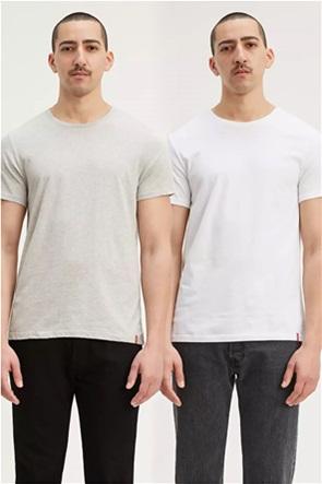 Levi's® σετ ανδρικά Τ-shirt μονόχρωμα Slim Fit (2 τεμάχια)