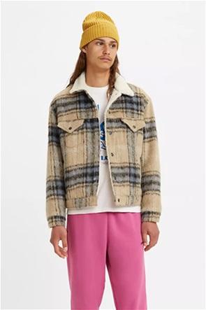 Levi's® ανδρικό μπουφάν shearling με καρό σχέδιο ''Vintage Fit Shepra Trucker''