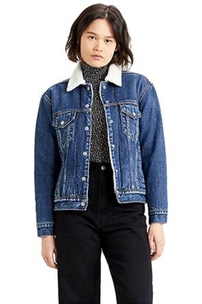 "Levi's γυναικείο denim jacket ""Ex-Boyfriend Sherpa"""