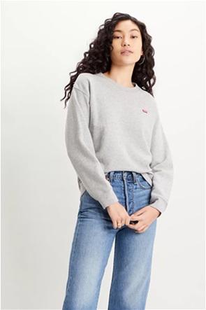 Levi's® γυναικεία φούτερ μπλούζα με κεντημένο λογότυπο ''Standard Crew Neck''