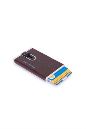 Piquadro ανδρική θήκη για κάρτες με logo print