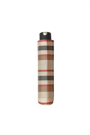 "Doppler ομπρέλα ""Carbonsteel Woven Check""  25 cm Mini Beige"
