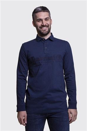 Timberland ανδρική μπλούζα πόλο με μεγάλο logo print