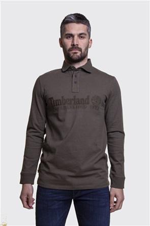 Timberland ανδρική πόλο μπλούζα με μεγάλο logo print