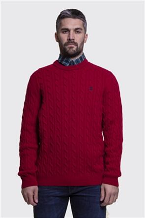 Timberland ανδρικό πουλόβερ με σχέδιο πλεξούδα στην ύφανση ''Philips Brook''