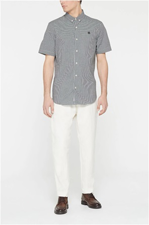 Timberland ανδρικό πουκάμισο με καρό σχέδιο και κεντημένο λογότυπο ''Suncook River''