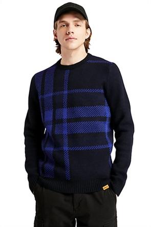 "Timberland ανδρικό πουλόβερ με καρό σχέδιο ""Ek+ Intarsia"""