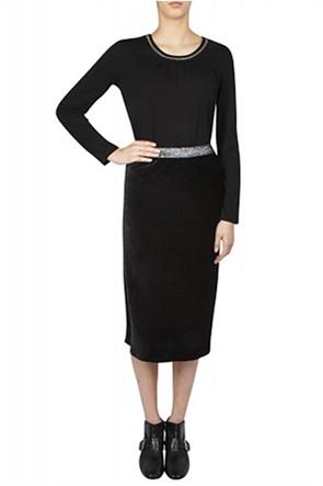 Gerry Weber γυναικεία midi pencil φούστα με βελούδινη υφή