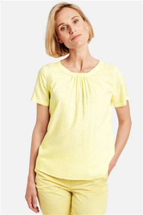 Gerry Weber γυναικεία κοντομάνικη μπλούζα με μικροσχέδιο