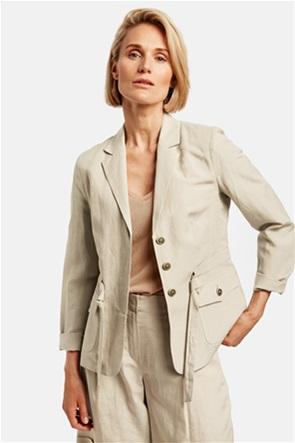 Gerry Weber γυναικείο σακάκι με flap τσέπες και ζωνάκι