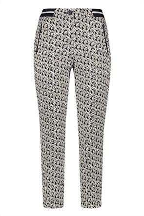Gerry Weber γυναικείο παντελόνι cropped με all-over print και ελαστική μέση