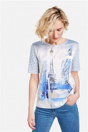 Gerry Weber γυναικείο Τ-Shirt με graphic print και ριγέ σχέδιο