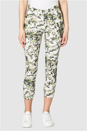 Gerry Weber γυναικείο παντελόνι cropped με all-over floral print Skinny Fit