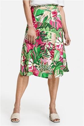 Gerry Weber γυναικεία midi φούστα με all-over floral print και ασύμμετρο τελείωμα