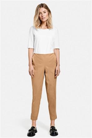 Gerry Weber γυναικείο παντελόνι μονόχρωμο cropped Slim Fit