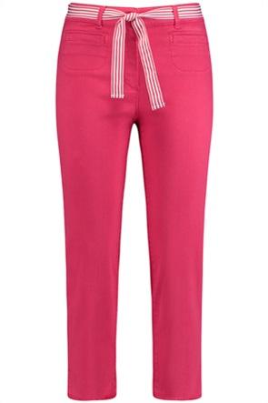 Gerry Weber γυναικείο τζην παντελόνι cropped με ριγέ ζώνη στη μέση