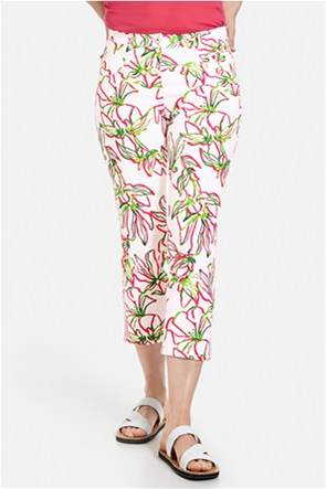 Gerry Weber γυναικείο τζην παντελόνι cropped με all-over floral print