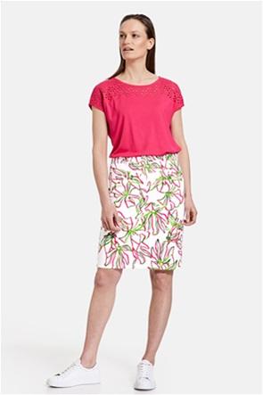 Gerry Weber γυναικεία mini φούστα denim με all-over floral print
