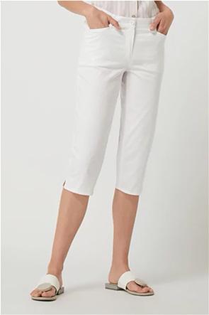 Gerry Weber γυναικείο παντελόνι capri μονόχρωμο Straight Fit