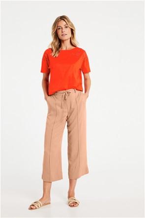 Gerry Weber γυναικείο παντελόνι cropped με ανάγλυφη ρίγα