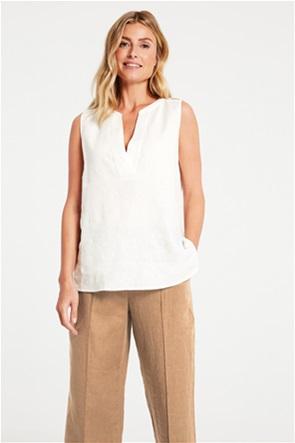 Gerry Weber γυναικεία μπλούζα αμάνικη με  V λαιμόκοψη