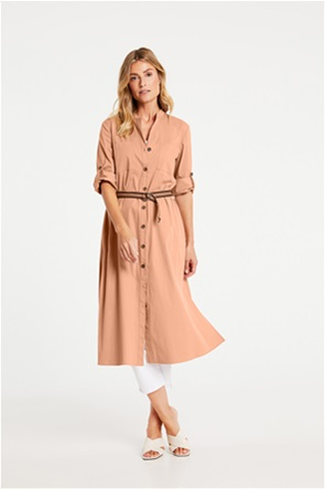 Gerry Weber γυναικείο midi φόρεμα σεμιζιέ με ζώνη στη μέση