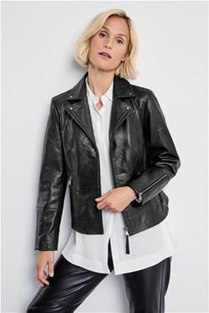 Gerry Weber γυναικείο jacket faux leather με φερμουάρ