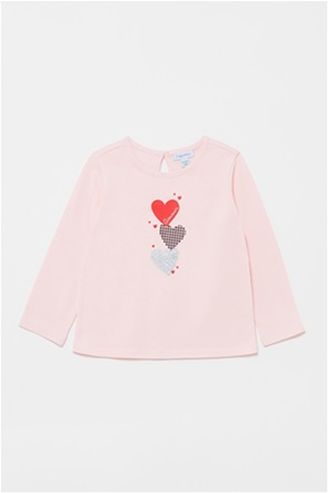 OVS βρεφική μπλούζα με print καρδούλες (9-36  μηνών)