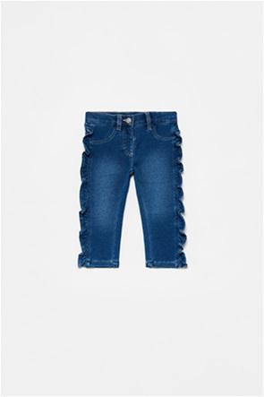 OVS βρεφικό τζην παντελόνι με βολάν (9-36 μηνών)