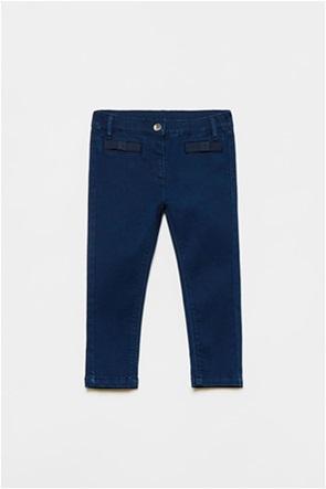OVS βρεφικό τζην παντελόνι με απλικέ φιόγκους (9-36 μηνών)