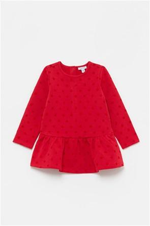 OVS βρεφικό φόρεμα πουά με βολάν (9-36 μηνών)