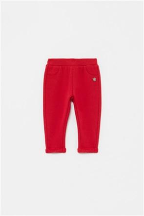 OVS βρεφικό παντελόνι με ρεβέρ μονόχρωμο (9-36 μηνών)