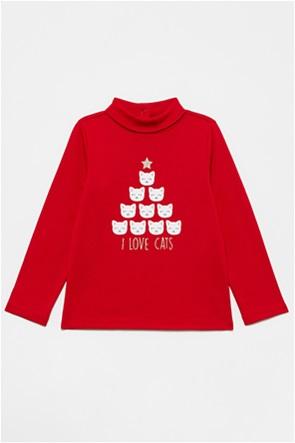 OVS βρεφική μπλούζα με Christmas kittens print