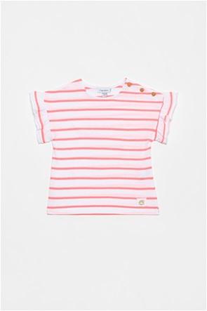 OVS βρεφικό T-shirt ριγέ με βολάν λεπτομέρειες (12-36 ετών)