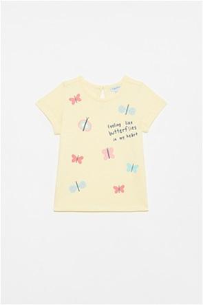 OVS βρεφικό T-shirt με butterflies print (12-36 μηνών)