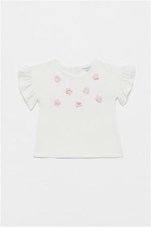 OVS βρεφική μπλούζα με απλικέ λουλουδάκια (12-36 μηνών)