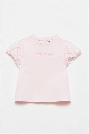 OVS βρεφικό T-shirt με κεντημένο lettering (12-36 μηνών)