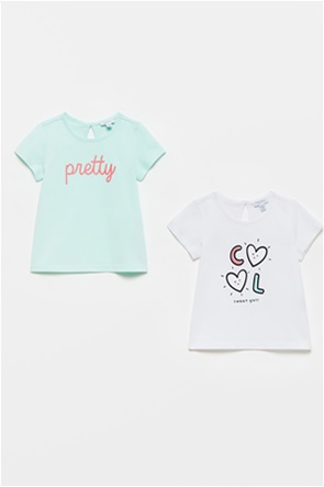 OVS βρεφικό σετ ρούχων T-shirts με letter print (9-36 μηνών)