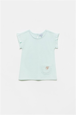 OVS βρεφική μπλούζα με απλικέ τσέπη με κέντημα (9-36 μηνών)