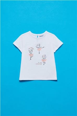 OVS βρεφικό T-shirt με ballerinas print (9-36 μηνών)