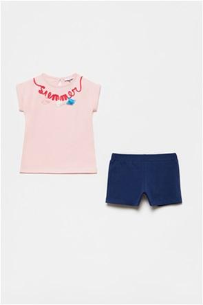 OVS βρεφικό σετ ρούχων T-shirt με κέντημα και σορτς (9-36 μηνών)