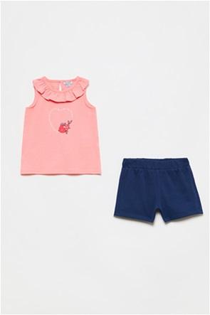 OVS βρεφικό σετ ρούχων μπλούζα με βολάν αμάνικη και σορτς (9-36 μηνών)